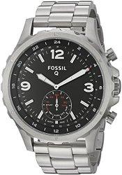 FOSSIL Q Nate Gen 2 Hybrid Silver Stainless Steel Smartwatch