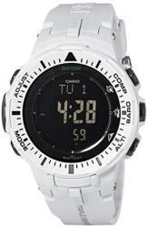 Casio Men's Pro Trek PRG-300-7CR Solar Watch With Off-white Band