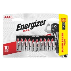Energizer Max Aaa 12 Pack