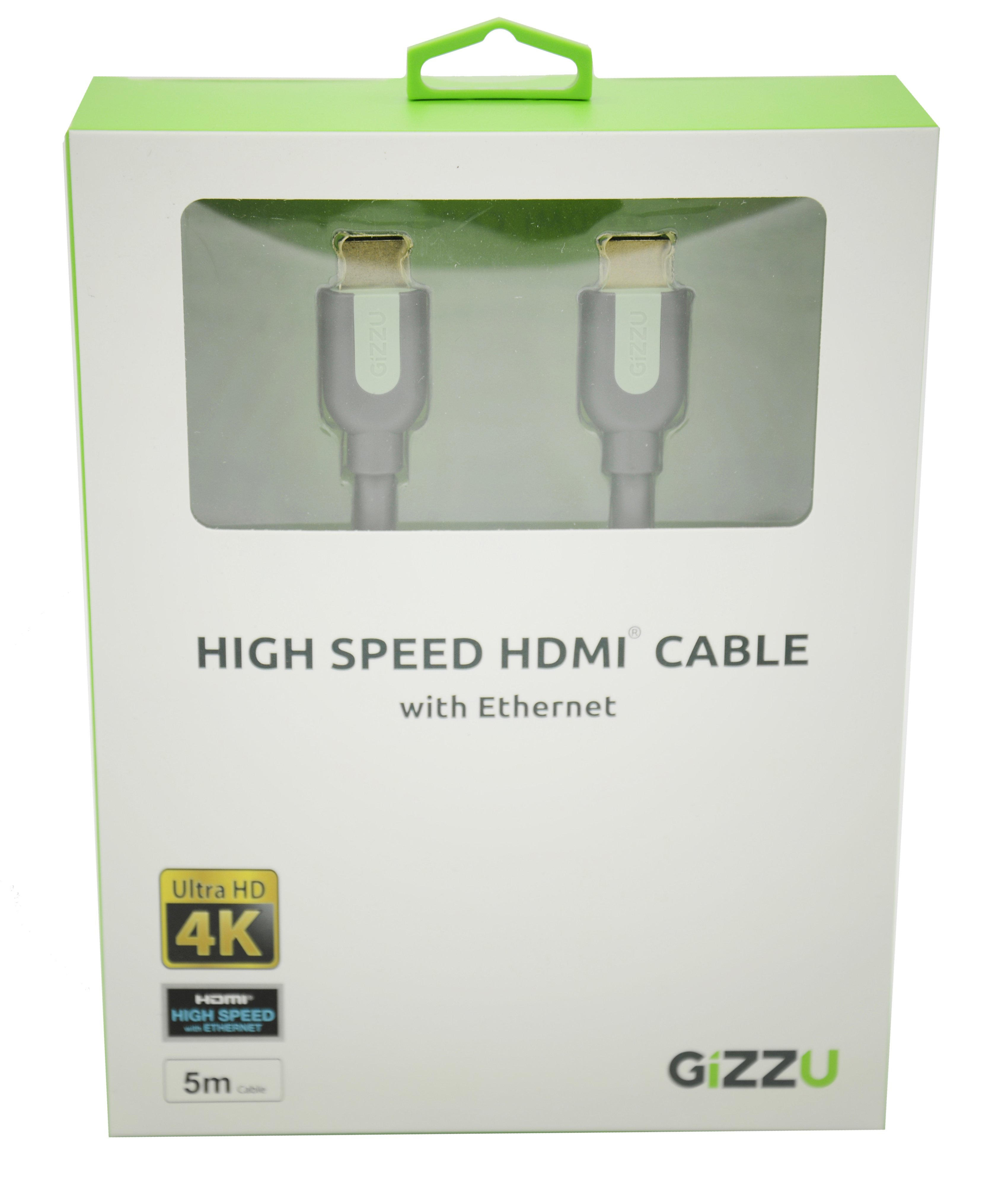 Gizzu High Speed 5m HDMI Cable with Ethernet
