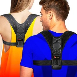 4WELL Posture Corrector For Women Men Rounded Shoulders Ultimate Comfort Designed In Usa Wearable Posture Support Straps For Upp