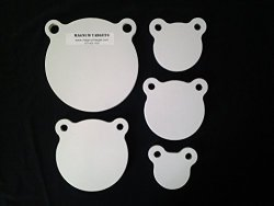 Steel AR500 Targets - Gongs - Silhouettes And More For Pistols And Rifles - 3 8 1 2 3 8 AR500 Combo Gong Set 3 4 5 6 8