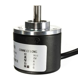 Quickbuying Brand New 5-24V 600P R Photoelectric Rotary Encoder Incremental Ab Two Phases Shaft 6MM Electronics Stocks