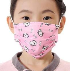 Flyusa 100 Pieces Cute Face Masks for Kids