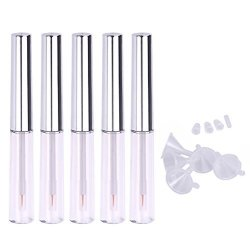 f33a4464570 Frcolor 5PCS Transparent Plastic Empty Mascara Tube Mascara Bottles Makeup  Eyelashes Tube Eyeliner Vials With Eyelash