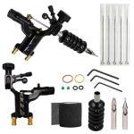 Rotary Tattoo Machine Kit - Yuelong Professional Liner Shader Tattoo Motor Machine Gun Kit With Tattoo Grip Tube Wrench Elastic