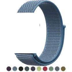 Nylon Loop Sports Strap For Apple Watch - Wild Blue 42MM Or 44MM