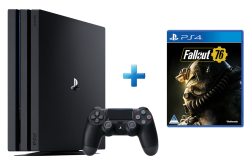 Playstation 4 Pro Console + Fallout 76 PS4