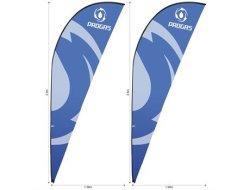 Legend 3M Sharkfin Flying Banner Skin Set Of 2