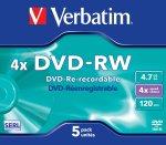 - 4.7GB Dvd-rw 4X - Jewel Case Pack Of 5
