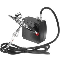 Airbrush AC100-240V Spray Gun Air Compressor Kit Tattoo Manicure Craft Cake Spray Model Air Brush Na