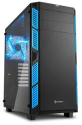 Sharkoon AI7000 Glass Window Atx Tower PC Gaming Case Blue With Side