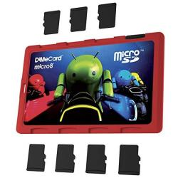 Dimecard MICRO8 Microsd Memory Card Holder Android Light Cycle Edition Ultra Thin Credit Card Size Holder Writable Label
