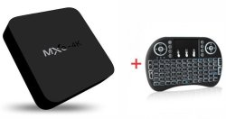 MXQ PRO 4K S905W Smart Android TV Box & i8-M Air Mouse Mini Wireless Keyboard Remote Control
