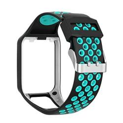 Compatible With Tomtom Spark 3 Runner 2 3 Golfer 2 Watch Band Replacmenr Silicone Straps Wristband Sport Band For Tomtom Runner 2 3 And Tomtom Spark 3 Gps Fitness Watch Blue teal