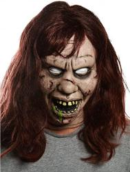 USA Regan Exorcist Evil Possessed Halloween Mask With Teeth And Hair