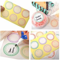 Pastel Assorted Circle Decorative Labels Stickers