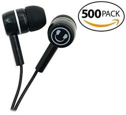 Smithoutlet 500 Pack Student Classroom Testing Headphones Smile Earbuds In Bulk