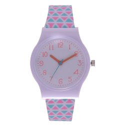 Digitime - Triangle Pink And Teal Teen Fashion Watch