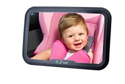 J-ant Baby Car Mirror For Back Seat- Crystal Clear Reflection - Safe Rear Facing Baby Mirror