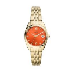 Fossil Women Scarlette MINI Gold Round Stainless Steel Watch - ES4904