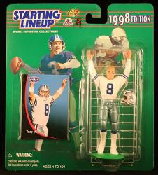 Troy Aikman Dallas Cowboys 1998 Nfl Starting Lineup Action Figure & Exclusive Nfl Collector Trading Card