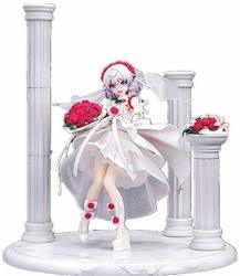 Skwenp Theresa Apocalypse Anime Character Statue Collapsed Academy Series Dressed In A White Wedding Dress Delisa Toy Statue Handmade Pvc Model 28CM