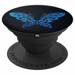 Blue Butterfly Black Design