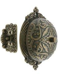 House Of Antique Hardware R-06SE-0900002 Eastlake Style Twist Door Bell In Antique Brass