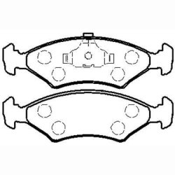 Toyota Conquest 1.3 Tazz 00-06 - Brake Pad - Front