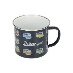 Volkswagen Vw Driver Gear Blue T1 Vintage Camperbus Bus Drinking Mug Cup Oem