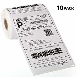 "10 Rolls 2200 Labels Dymo Compatible 1744907 4"" X 6"" Shipping Labels Compatible For Dymo 4XL Labelwriter"