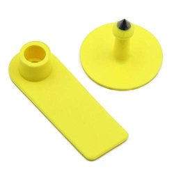 M.z.a Sheep Ear Tags Blank Ear Tags For Goats Sheep Pigs Hogs Cows Cattle Calf Livestock Ear Tag 100 Pieces Yellow