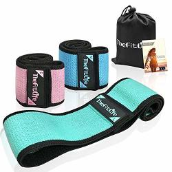 TheFitLife Resistance Bands For Legs And Butt - Fabric Exercise Bands For Women With Elastic Non Slip Design To Sculpt Desired P