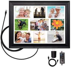 Clearstream View Wall Frame Amplified Indoor Hdtv Antenna With Collage Mat USB Cable And USB Power Adapter