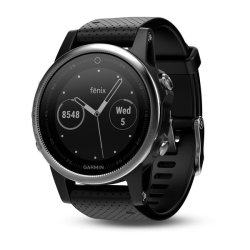 Garmin Fenix 5S in Silver with Black Band
