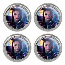 Riverdale Veronica Character Metal Craft Sewing Novelty Buttons - Set Of 4