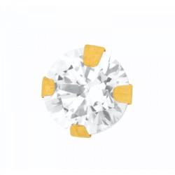 9CT GOLD 4mm Cubic Zirconia Stud Earring