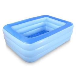 "Hiwena Inflatable Family Swim Center Pool 83"" Gaint Swimming Pool Summer Water Fun With Inflatable Soft Floor 83"" Blue"