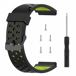 Tusita Band For Bushnell Neo Ion 1 Ion 2 Excel - Silicone Replacement Strap Bracelet Wristband - Golf Gps Smart Watch Accessories Black+green