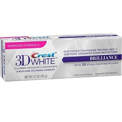 Procter & Gamble Health Care Crest 3D White Brilliance Toothpaste Mesmerizing Mint 4.1 Oz Pack Of 8