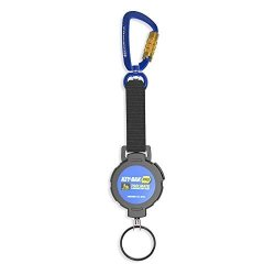 Key-bak Pro Toolmate Retractable Split Ring Tool Tether With 1 Lb. Tool Drop Capacity Locking Swivel Carabiner Stainless Steel Coated Cable Ansi 121 Certified
