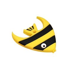 Yamalans Baby Silicone Teether Toy Cartoon Fish Charms Pendant Teething Chewing Toy Gift Yellow