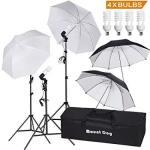 "Mountdog 33"" Photography Umbrella Lighting Kit Professional Photo Video Portrait Studio Day Light Umbrella Continuous Lighting K"