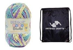 Spinrite Yarn Bernat Baby Blanket Big Ball Yarn 1-PACK Easter Egg 161104-04327 Bundle With 1 Artsiga Crafts Project Bag