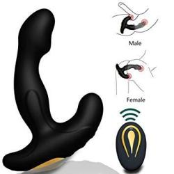Male Prostate Anal Vibrators Unisex Massager With 12 Stimulation Patterns And 2 Powerful Motors Sxovo Wireless Remote Vibrating