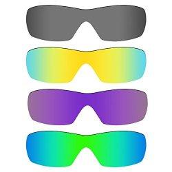 18f98336d3 MryLens Mryok 4 Pair Polarized Replacement Lenses For Oakley Dart Sunglass  - Black IR 24K Gold plasma Purple emerald Green