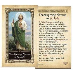 ShopCatholic Thanksgiving Novena To St. Jude Laminated Holy Card - Pack Of 10