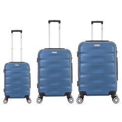 Elegant - 3PC Abs Trolley Set Blue