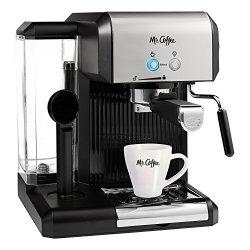 Mr. Coffee Caf 20-OUNCE Steam Automatic Espresso And Cappuccino Machine Silver black